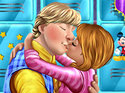 game Anna and Kristoff sweet kissing