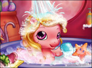game BABY PONY BATH
