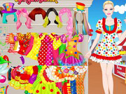 game Barbie Clown Princess Dressup