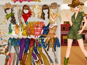 game Barbie Western Dressup