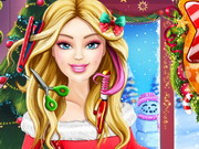 game Barbie Xmas Real Haircuts