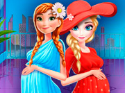 game Elsa And Anna Pregnant Mall Shopping