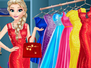 game Elsa Dress Up Room