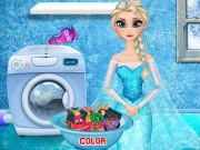 game ELSA WASHING CLOTHES 2