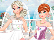 game Frozen Sisters Double Wedding
