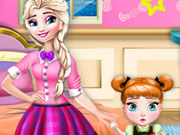 game Frozen Sisters Room Deco