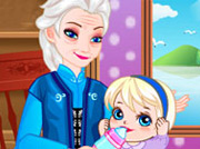 game Grandma Elsa Cares Baby