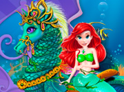 game Mermaid Sea Horse Caring