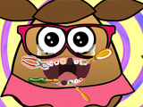 game Pou Girl At The Dentist