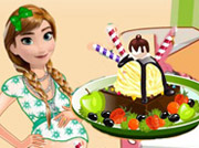 game Pregnant Anna Ice Cream Decoration