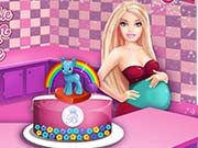 game Pregnant Barbie Cooking Pony Cake