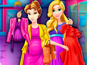 game Pregnant Princesses Mall Shopping