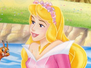 game Princess Aurora Swing Puzzle