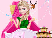 game Princess Elsa Birthday Cleaning
