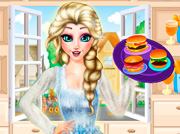 game Princess Elsa Burger Shop