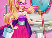 game Super Barbie Groom The Room