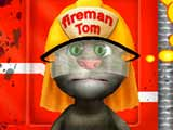 game Talking tom fire truck washing